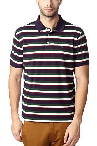 Peter England Men's Blended T-Shirt (8907411509318_Purple_Large)  available at amazon for Rs.418