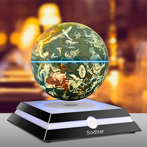 Soditer levitation globe LED Light Globes Luminous Globes Floating Globe  Globe with Maglev Globe levitating globe 998f4e18efe4f