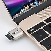Rocketek USB C lector de tarjetas portátil para tarjetas micro SD, Micro SD para tipo C adaptador USB