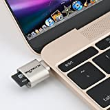 Rocketek USB C Portable Card Reader for Micro SD Cards, Micro SD to Type C USB Adapter
