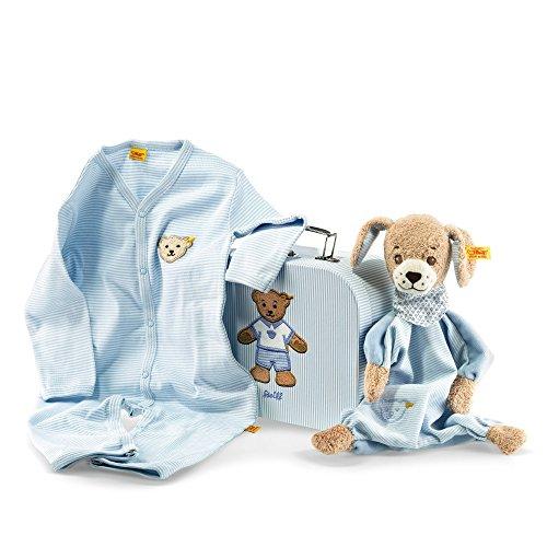 Steiff 240508 Geschenkset Gute Nacht Hund Schmuset, blau