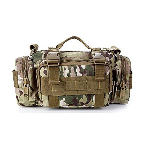 Lmeno Multifunktionale Militaer Taktisch Gürteltasche 600 D Oxford Fabric langlebig Bauchtasche Hüfttasche Taktische Tasche Umhängetasche Schultertasche Bauchtasche Gürteltasche Hüfttaschen Tactical M CP-Tarnung