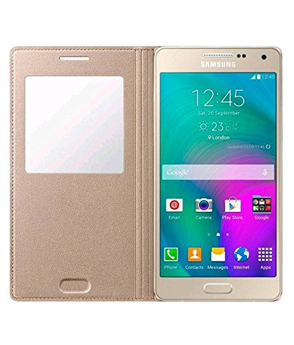 Flip Cover For Samsung on5 - Gold By KPH
