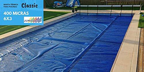 Ventajas de nuestro producto: - Estos cobertores solares (lona de burbujas) están fabricados en diferentes medidas con refuerzo en uno de los lados por si alguna vez queremos colocar un enrollador. - Aumento de la temperatura del agua hasta 8ºC - Aho...