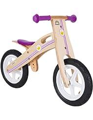 BIKESTAR® Original Premium Kinderlaufrad für modebewusste Prinzessinnen ab 3 Jahren ★ 12er Natur Holz Edition ★ Kleine Prinzessin Design