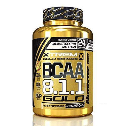 BCAA Kapseln 8:1:1 - Gold BCAAs Aminosäuren 120 Caps NUTRYTEC - Bcaa 240 Caps