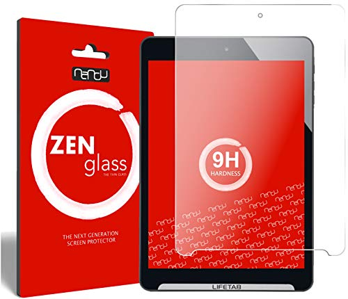 nandu I ZenGlass Flexible Glas-Folie für Medion Lifetab S7852 MD 98625 Panzerfolie I Bildschirm-Schutzfolie 9H