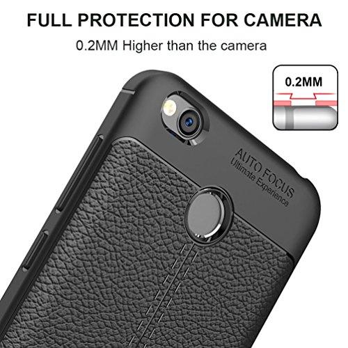 Coque Xiaomi Redmi 4X, MSVII® Anti-Shock Silicone TPU Souple Coque Etui Housse Case et Protecteur écran Pour Xiaomi Redmi 4X - Bleu JY90047 Noir