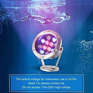 BIN LED Subacquea Luci Colorate Faretti All'aperto Impermeabile Paesaggio Fontana Luci 6W Piscina Luci Subacquee Pesci Pond Luci
