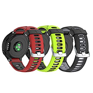 NotoCity Uhrenarmband Soft Silikon für Garmin Forerunner 230/220/235/620/630/735XT