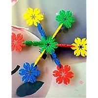 Aimitoysidy 3.3cm Schneeflocken förmigen Bausteine Baukasten DIY Spielzeug (115pcs) preisvergleich bei kleinkindspielzeugpreise.eu