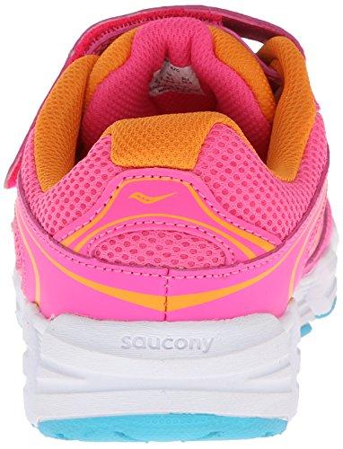 Saucony Girls Kotaro A/C Running Shoe (Little Kid/Big Kid) Pink/Orange/Blue