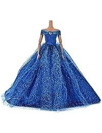 f9d991b21c Newin Star Juquete Elegante de la Boda del Estilo de la Manera del Vestido  de la muñeca Que arrastra el…