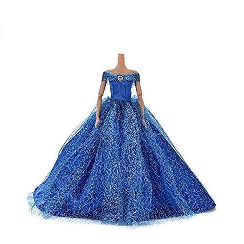 Elegante Puppe Kleid Mode-Stil Hochzeit Nachgestellte formales Kleid handgemachte Partei-Kleid für...