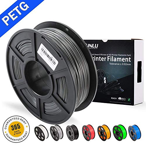 Sunlu petg 3d filament 1.75mm 1kg(2.2lb), petg 3d printer filament, dimensional accuracy +/- 0.02 mm, 1 kg spool, 1.75 mm,grey petg