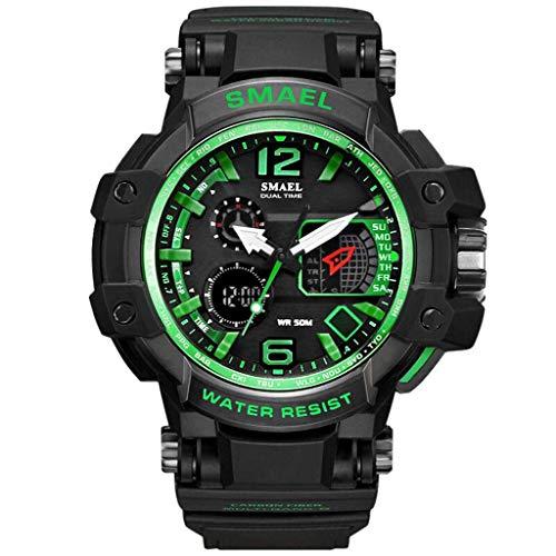 REALIKE Herren Digitale Armbanduhr, Outdoor Laufen wasserdichte Leuchtend Zeiger Kalender Uhren, Cool Sport große Anzeige Sportuhr mit Wecker für Herren Erwachsene Smart Watch