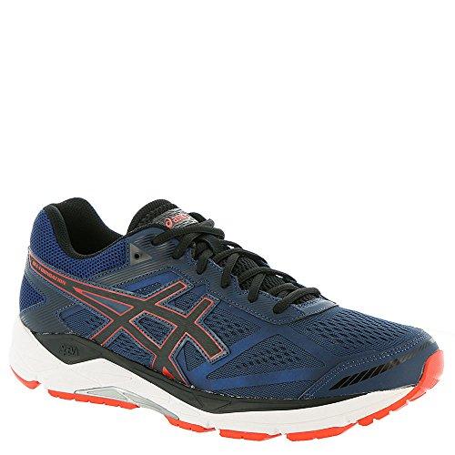 ASICS Men's Gel-Foundation 12 Running Shoe - Color: Insignia Blue/Black/Cherry (Regular Width) - Size: 8.5