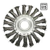 Stahlbürste Zopfrundbrüste Ø 115 mm Schleifbürsten Winkelschleifer | H7