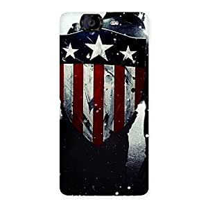Enticing Vintage Shield Multicolor Back Case Cover for Canvas Knight A350