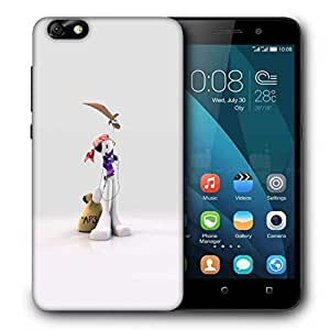 Snoogg Mp3 Sailor Printed Protective Phone Back Case Cover For Huawei Honor 4X