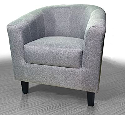 Boston Fabric Tub Chair Grey Fabric Upholstery - low-cost UK light store.