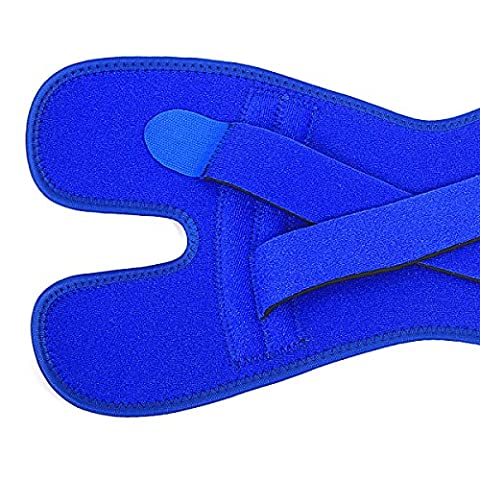Addora Atmungsaktive Schaum Schutzknieband Blau Sportschutzausrüstung Wandern Lang Zug