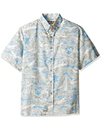 Kahala Men's K-Kloth Poly Cotton Placket No Iron Hawaiian Shirt