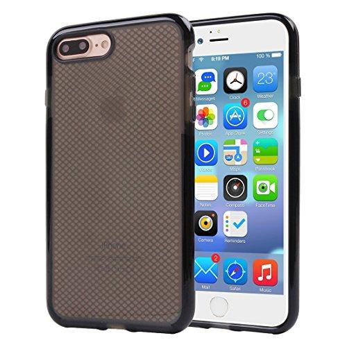 BING Für iPhone 7 Plus Plaid Texture Transparente TPU Schutzhülle BING ( Color : Magenta ) Black
