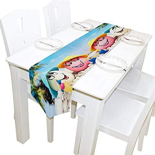 Schiefer-cocktail (Garry Henry Table Runner Home Decor, tropisches Osterei mit Cocktail Tischdecke Runner Coffee Mat für Hochzeitsfeier Bankett Dekoration 13 x 90 Zoll)