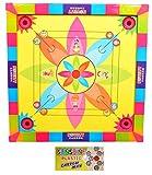 Jaykal Carrom Board with Snake Ladder 2 in 1 Game, Carromboard for Kids