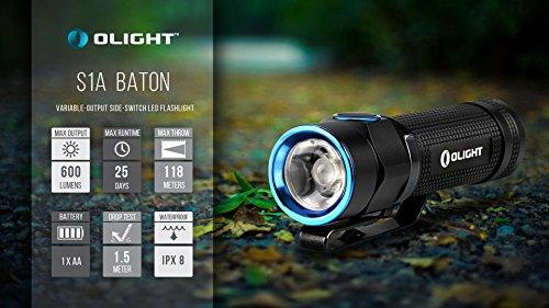 Olight® S1A Baton LED Mini AA Taschenlampe - 4