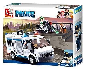 Sluban- Construcción Policía 117piezas 29x24cm, Multicolor (SL0652)