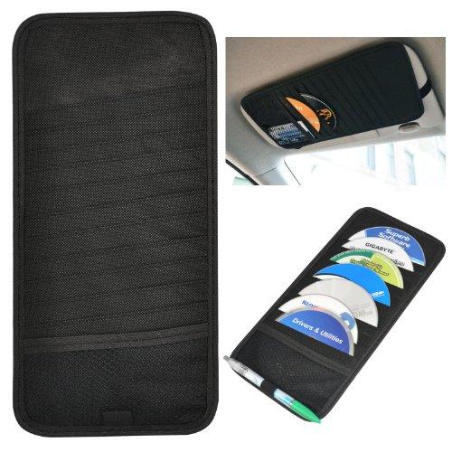 Preisvergleich Produktbild TRIXES CD-Ständer für 12 CDs für die Sonnenblende im Auto