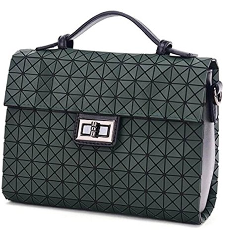 Neue Art Und Weisefrauen PU-lederner Handtaschen-Beutel-Schulter-Beutel-Einkaufstasche Darkgreen