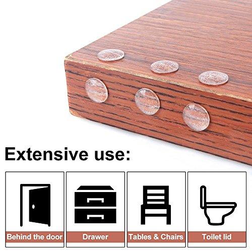 511OKzLQ2RL - Lagrimas Silicona, JTDEAL 214pcs Gotas Silicona Adhesivas, Topes Adhesivos Transparentes, Almohadilla Autoadhesiva, Pies de Goma Pad Hemisférica de puerta de muebles pad (5 tamaños)