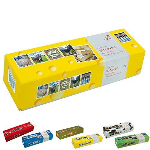 ebos Memospiel ✓ 36 Bildpaare | Motive ✓ 72-teilig ✓ Gedächtnisspiel | Kartenspiel | Kinder-, Jugendlichen- und Erwachsenen-Spiel (Käse)