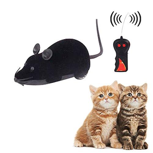 Scenstar New Mini deux canaux à piles 27Mhz télécommande radio R/C jouet souris télécommande radio RC Mouse Souris W/Remote Controller jouet & # nitrure; Noir & # Xff0C; Gray & # Xff0C; Marron et Carbide PCB;