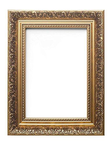 Cornice in stile barocco francese, decorato con lavorazione antica, per immagini, foto, gold, a5 (14.8 x 21cm)