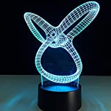LXB 3D Personalisierte Geschenke Acryl-Nachtlicht LED-Raumbeleuchtung Wohnzimmer Schlafzimmermöbel Wohnmöbel Zubehör Farbe 7 Farben