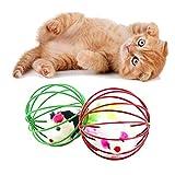 JEZmiSy 6 * 6cm Cage Mouse Giocattolo di Gatto Forniture per Animali Domestici - Random Color