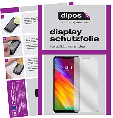 dipos I 2X Schutzfolie klar passend für LG G7 Fit Folie Displayschutzfolie