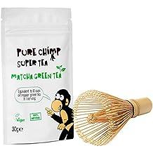 Kit Básico Matcha y Batidor/Set de Té PureChimp Matcha – Batidor de Bambú Japonés Tradicional + 30g Té Verde Matcha Premium