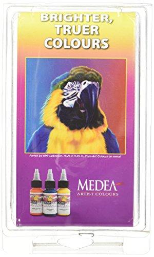 Medea iwata kit e com-art 10 colori aerografo trasparenti 28 ml