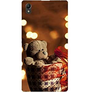 Casotec Teddy In Cup Design Hard Back Case Cover for Sony Xperia Z1 L39H