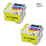 ONINO Patronen Kompatibel Epson T0711 T0712 T0713 T0714 (T0715) Kompatibel Epson Stylus S20 S21 SX100 SX105 SX110 SX115 SX200 SX205 SX209 SX210 SX215 SX218 SX400 SX405 SX410 SX415 SX510W SX515W SX600FW SX610FW D78 D92 D120 DX400 DX4000 DX4050 DX4400 DX4450 DX5000 DX5050 DX6000 DX6050 DX7000 DX7400 DX7450 DX8400 DX8450 DX9200 DX9400F DX9450 (8pcs)