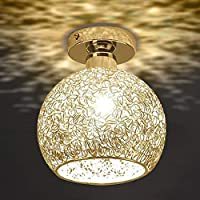 Ankamal Elec 1pc Modern Ceiling Light with Aluminum Shade for Hallway Corrido Stairs Bedroom(Bulb Included)