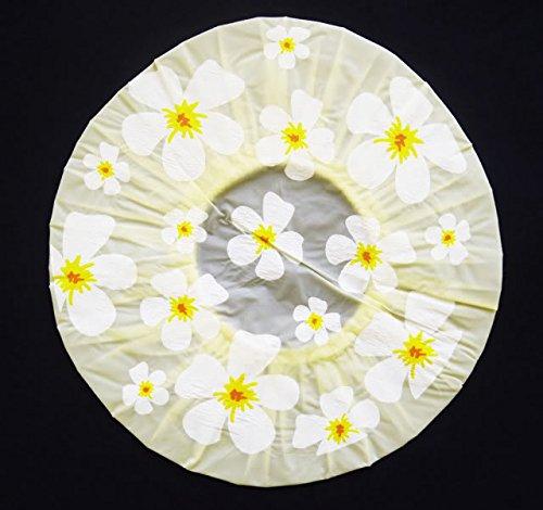 Colour amarillo Gorra ducha flores forma de-de anillas