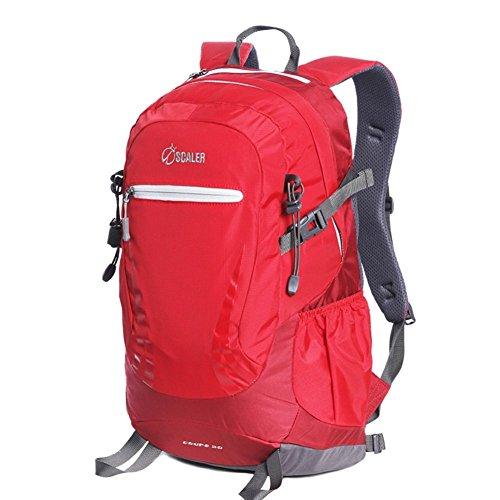 Sincere® Package / Sacs à dos / Portable 30L / Ultraléger Sports de plein air sac à dos / alpinisme sacs / pied package-rouge