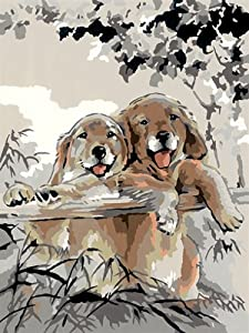 Ravensburger 28728  - Paint by Numbers, Amantes del Perro, 40x30 cm