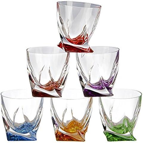 Cristallo Parigi - in 6 parti-Fusion Mixed-cristallo-vetro-Set di 6 Liquore